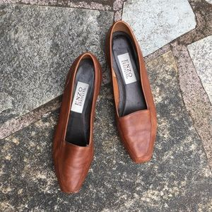 Enzo Anglioni Italian Leather Flats Brown 8 N